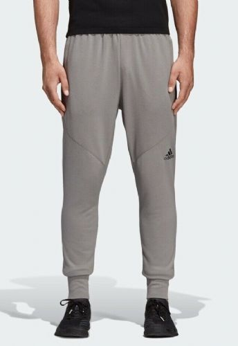 adidas Men's Woven Prime Workout Pants Joggers Jogging Bottoms Solid Grey BNWT